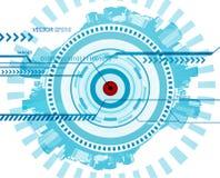 абстрактная голубая технология иллюстрации Стоковое Фото