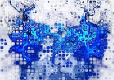 абстрактная голубая фракталь Стоковое фото RF