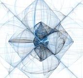 абстрактная голубая фракталь x Стоковые Фото