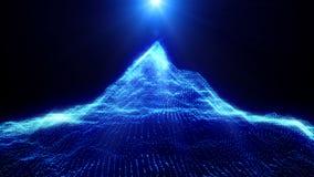 абстрактная гора Ландшафт цифров способный для того чтобы закрепить петлей бесплатная иллюстрация