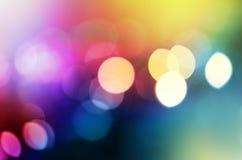Абстрактная города светов нерезкости моргать предпосылка Стоковое Изображение RF