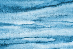 Абстрактная голубая акварель на бумажной текстуре как предпосылка Christm Стоковое фото RF