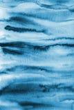 Абстрактная голубая акварель на бумажной текстуре как предпосылка Christm Стоковые Изображения