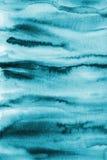 Абстрактная голубая акварель на бумажной текстуре как предпосылка Christm Стоковое Изображение