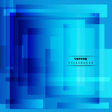 Абстрактная голубая геометрическая предпосылка Стоковое Фото