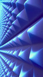 Абстрактная голубая геометрическая стена Стоковая Фотография