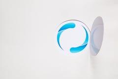 абстрактная голубая икона стоковые изображения