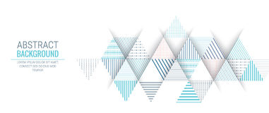 Абстрактная голубая линия предпосылка треугольника картины нашивки Стоковые Фотографии RF
