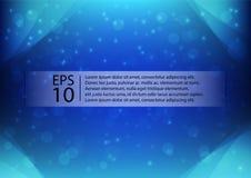 Абстрактная голубая иллюстрация вектора предпосылки bokeh Стоковые Изображения RF