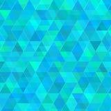 Абстрактная голубая предпосылка вектора треугольников Стоковая Фотография