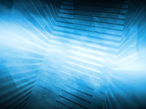 Абстрактная голубая предпосылка высок-техника 3d представляют Стоковые Изображения RF