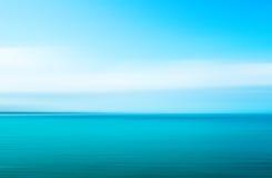 Абстрактная голубая предпосылка знамени лета моря Стоковая Фотография