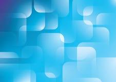Абстрактная голубая предпосылка прямоугольника Стоковая Фотография RF