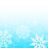 Абстрактная голубая предпосылка снежинок рождества Стоковое Изображение RF