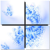 Абстрактная голубая предпосылка с бабочкой Стоковые Фотографии RF