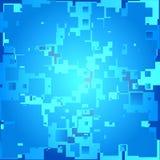 Абстрактная голубая предпосылка с квадратами, прямоугольниками Стоковые Изображения