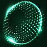 Абстрактная голубая предпосылка с накаляя спиралью абстрактная предпосылка Стоковое фото RF