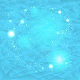 Абстрактная голубая предпосылка с светами Бесплатная Иллюстрация