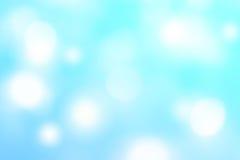 Абстрактная голубая предпосылка с defocused bokeh, текстурой нерезкости с Стоковое Изображение RF