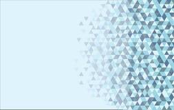 Абстрактная голубая предпосылка треугольника Стоковые Фото