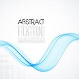 Абстрактная голубая прозрачная предпосылка волны Стоковое Изображение RF