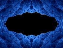 Абстрактная голубая рамка Стоковое фото RF