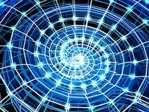 абстрактная голубая спираль раковины решетки 3d иллюстрация вектора