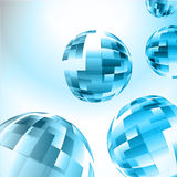 Абстрактная голубая сфера Иллюстрация вектора