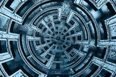 абстрактная голубая текстура Стоковая Фотография
