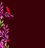 Абстрактная граница красочных листьев Стоковые Фото