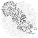 Абстрактная графическая иллюстрация медуз внутри Стоковое Изображение RF