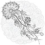 Абстрактная графическая иллюстрация медуз в векторе Стоковые Фото
