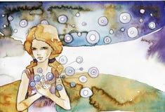 абстрактная девушка предпосылки бесплатная иллюстрация
