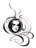абстрактная девушка стороны Иллюстрация вектора