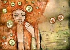 абстрактная девушка иллюстрация вектора