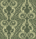 Абстрактная декоративная безшовная флористическая предпосылка Стоковое Изображение RF