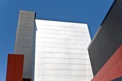 Абстрактная деталь самомоднейшего здания как предпосылка Стоковая Фотография