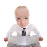 абстрактная деятельность компьютера ребенка стоковые изображения rf