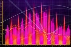 Абстрактная диаграмма валют Стоковая Фотография RF