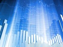 абстрактная диаграмма в виде вертикальных полос финансовохозяйственная Стоковые Фотографии RF
