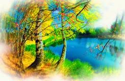 абстрактная диаграмма multicolor Стоковые Изображения