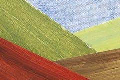абстрактная долина горы ландшафта Стоковое Изображение RF