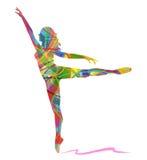 Абстрактная девушка танцев силуэта вектора бесплатная иллюстрация