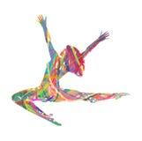 Абстрактная девушка танцев силуэта вектора иллюстрация штока