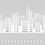 Бумажный город иллюстрация вектора