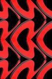 Абстрактная декоративная предпосылка на теме влюбленности иллюстрация 3d Стоковая Фотография RF