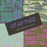 Абстрактная деревянная картина в ярких цветах шально Дерево Шов вектора иллюстрация штока