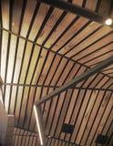 Абстрактная деревянная крыша Стоковое фото RF