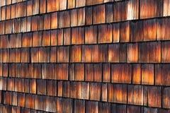 Абстрактная деревянная текстура гонт кедра Стоковые Фотографии RF