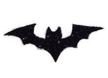 Абстрактная летучая мышь черного яркого блеска Праздничный символ хеллоуина, значок Стоковое фото RF